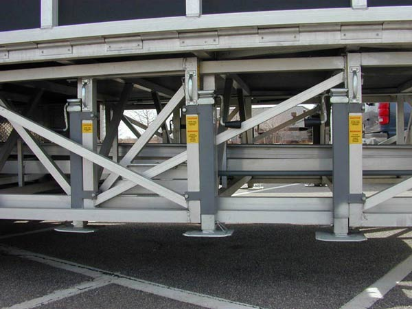 Lightweight Heavy Duty Mobile Stage System You Can Tow