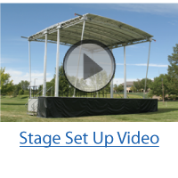 virtual stage set up